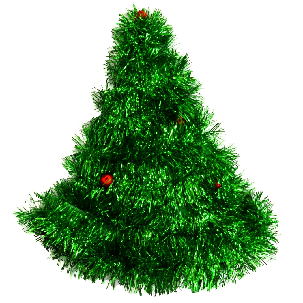 Tinsel Christmas Tree Runners Hat