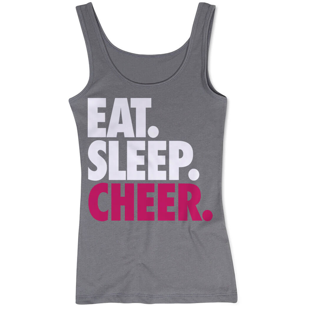 Cheerleading Women's Athletic Tank Top Eat. Sleep. Cheer.