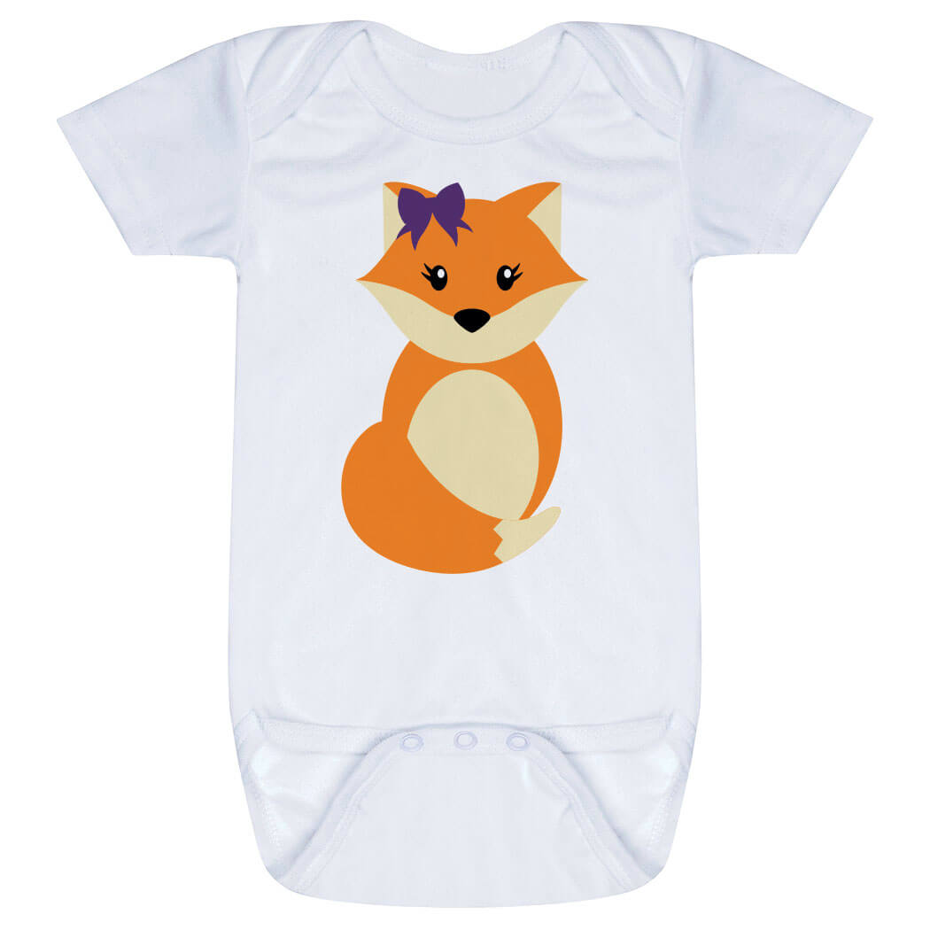 Baby One-Piece - Fox with Bow