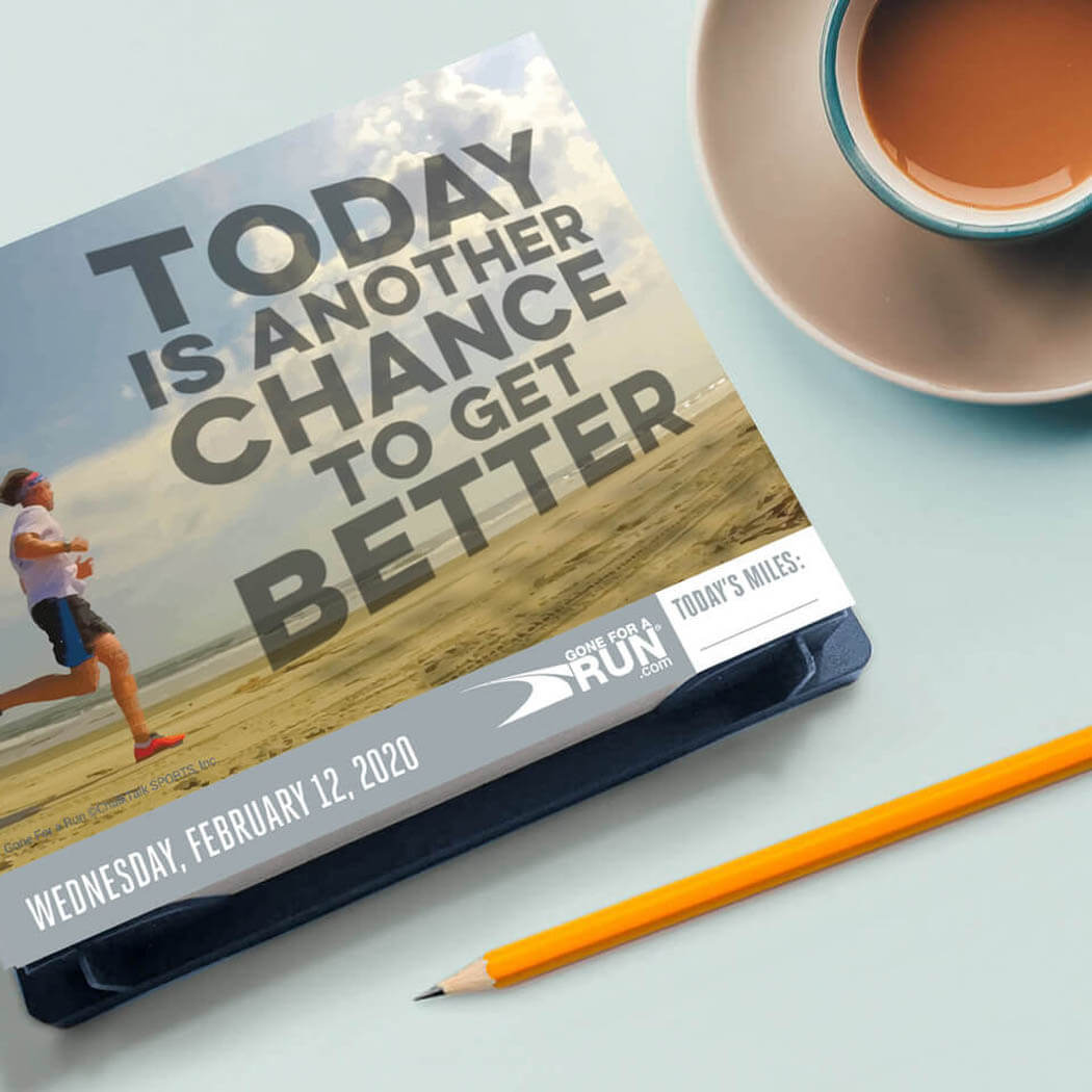 365 Day Running Calendar Motivation
