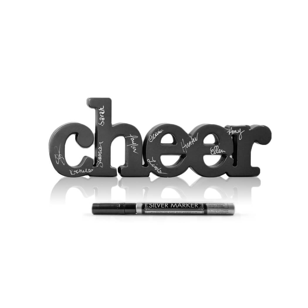Cheer Wood Words Ready for Team to Autograph