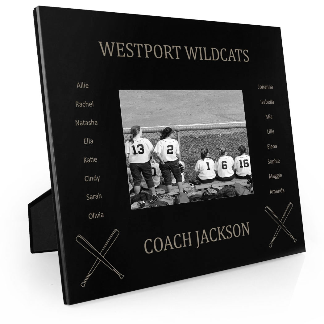 Softball Engraved Picture Frame