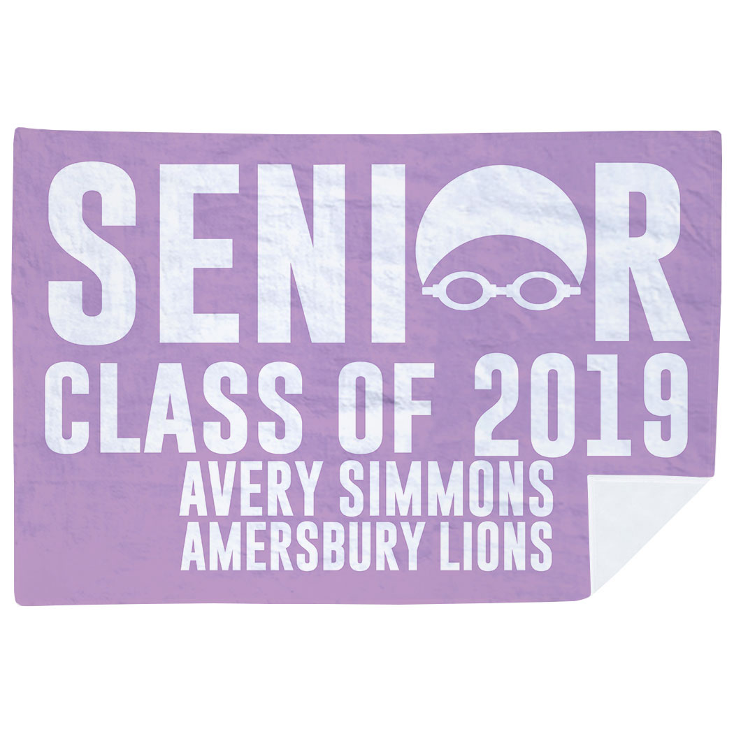 Swimming Premium Blanket - Personalized Swimming Senior Class Of - Personalization Image