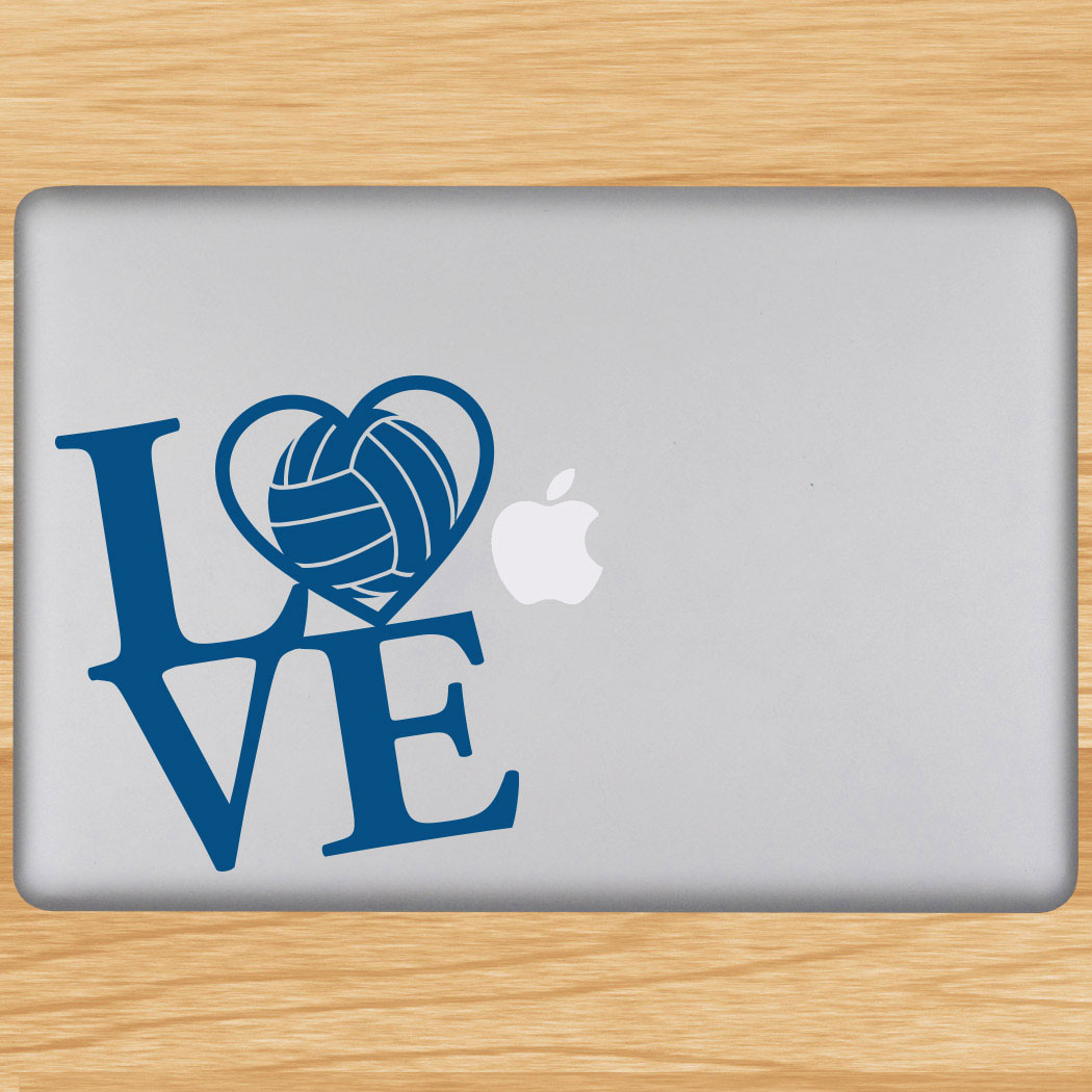 Volleyball Removable Laptop Decal Love Volleyball Click to Enlarge