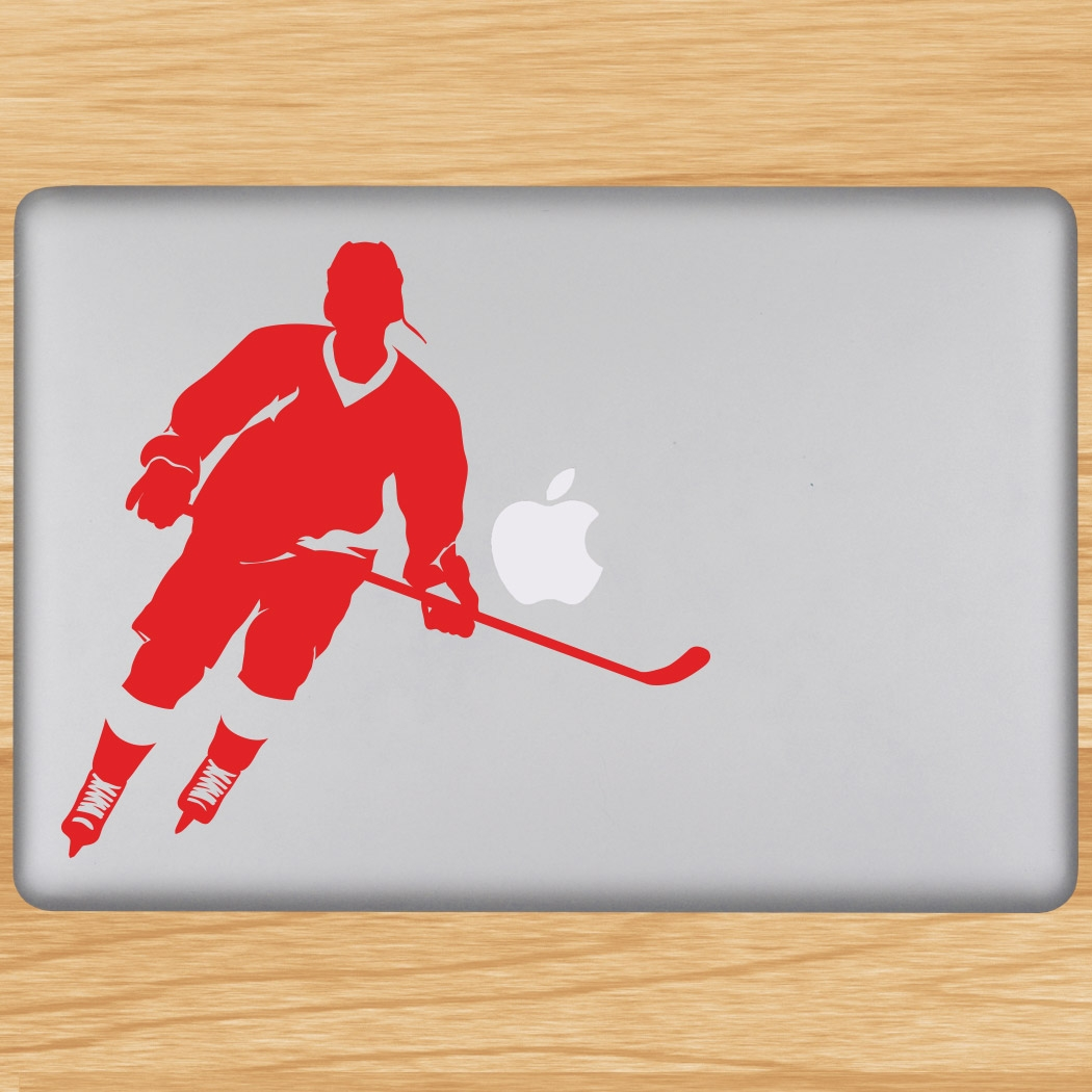 Hockey Player Rink Turn Removable ChalkTalkGraphix Laptop Decal Click to  Enlarge
