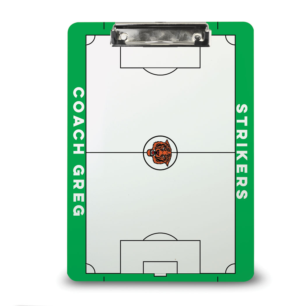 ChalkTalk Soccer Custom Coaches Dry Erase Clipboard - Personalization Image