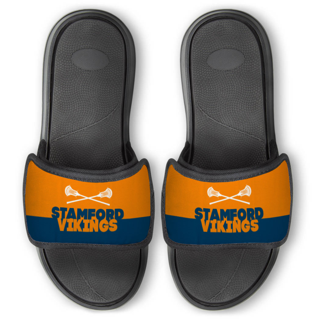 Guys Lacrosse Repwell® Slide Sandals - Team Name Colorblock