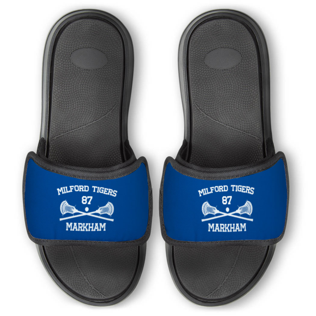 Guys Lacrosse Repwell® Slide Sandals - Custom Lacrosse - Personalization Image