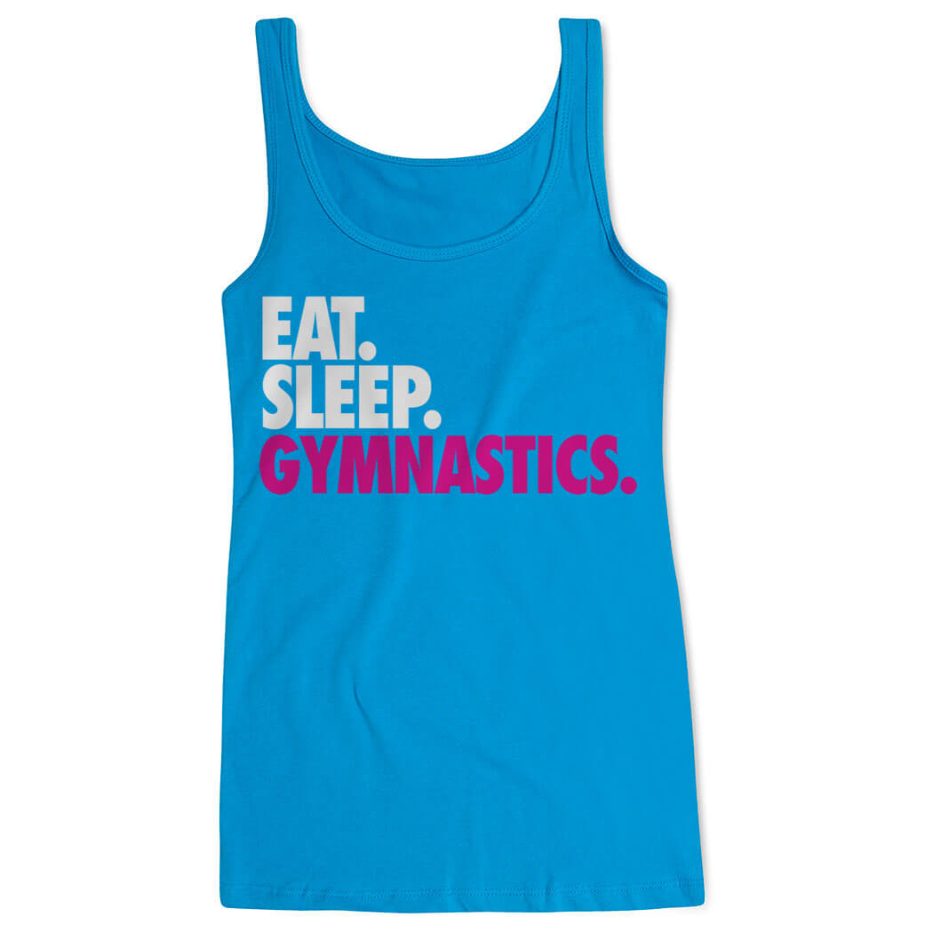 Gymnastics Women's Athletic Tank Top Eat. Sleep. Gymnastics.