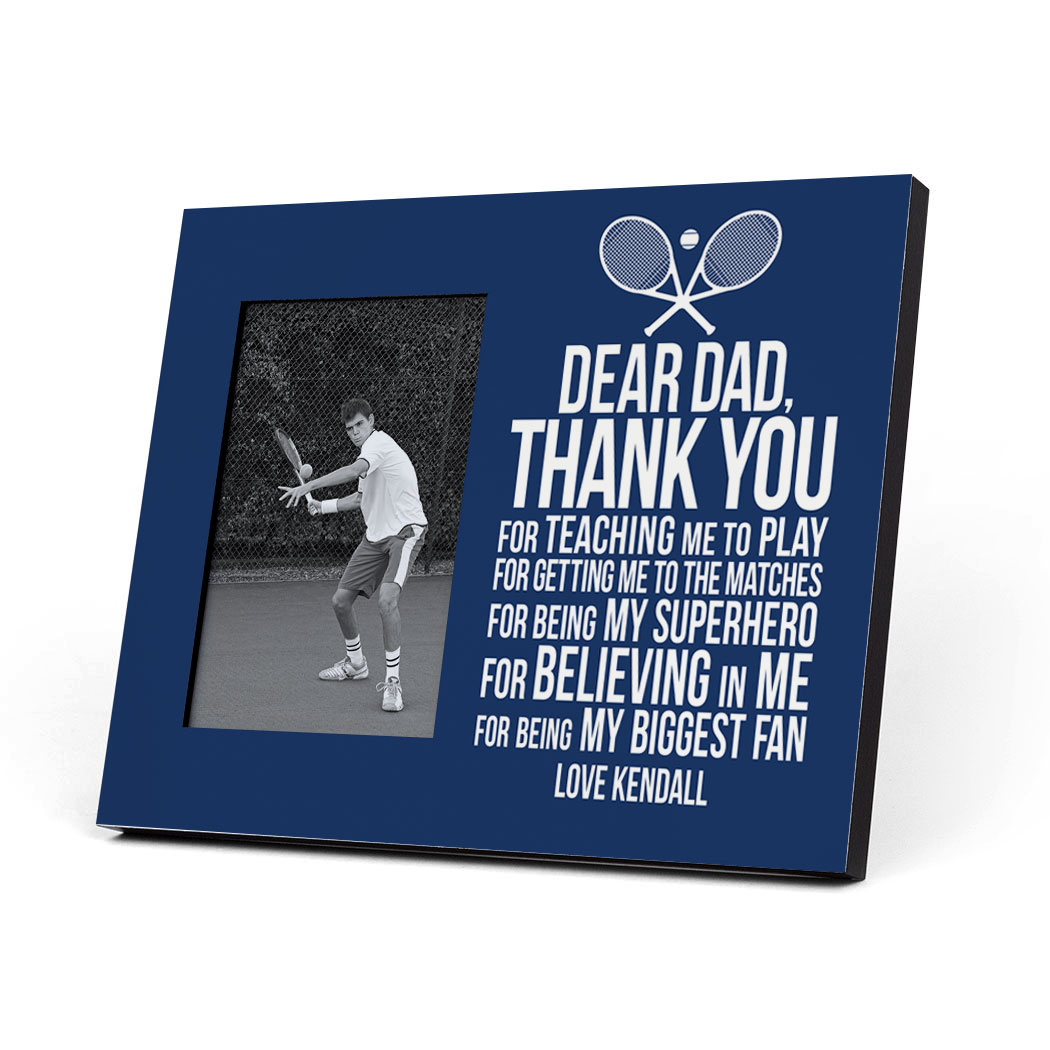 Tennis Photo Frame - Dear Dad - Personalization Image