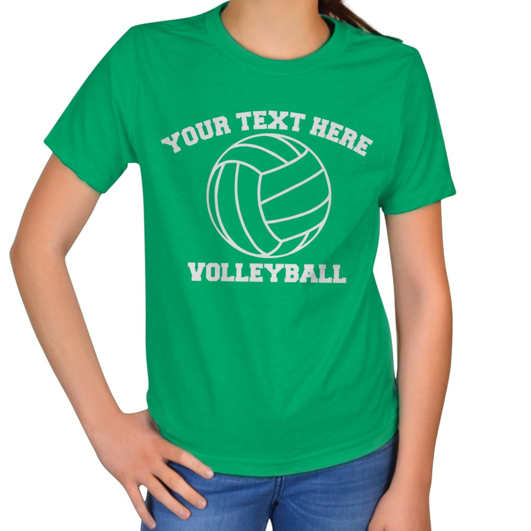 Custom volleyball t shirt short sleeve volleyball t for Team sport shirts custom