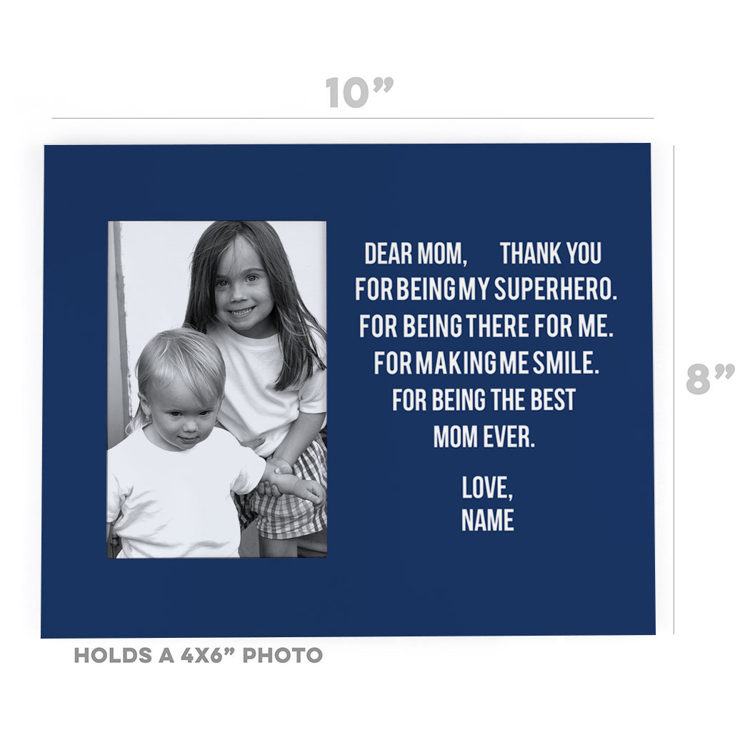 Personalized Photo Frame - Dear Mom Heart - Personalization Image