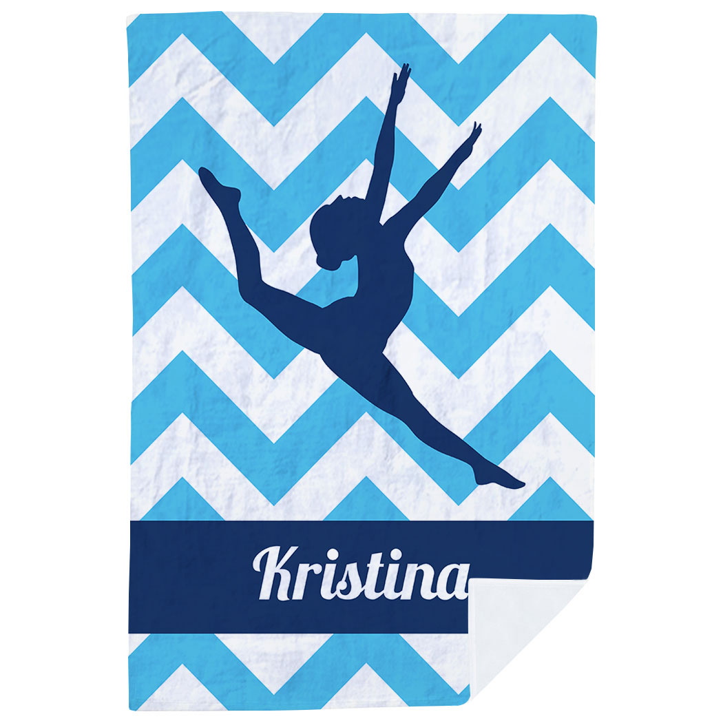 Gymnastics Premium Blanket - Leap Of Faith - Personalization Image