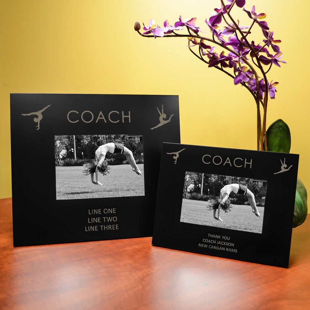 Gymnastics engraved picture frame coach chalktalksports gymnastics engraved picture frame coach jeuxipadfo Gallery