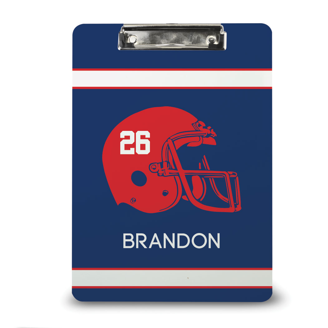 Football Custom Clipboard Personalized Football Helmet - Personalization Image