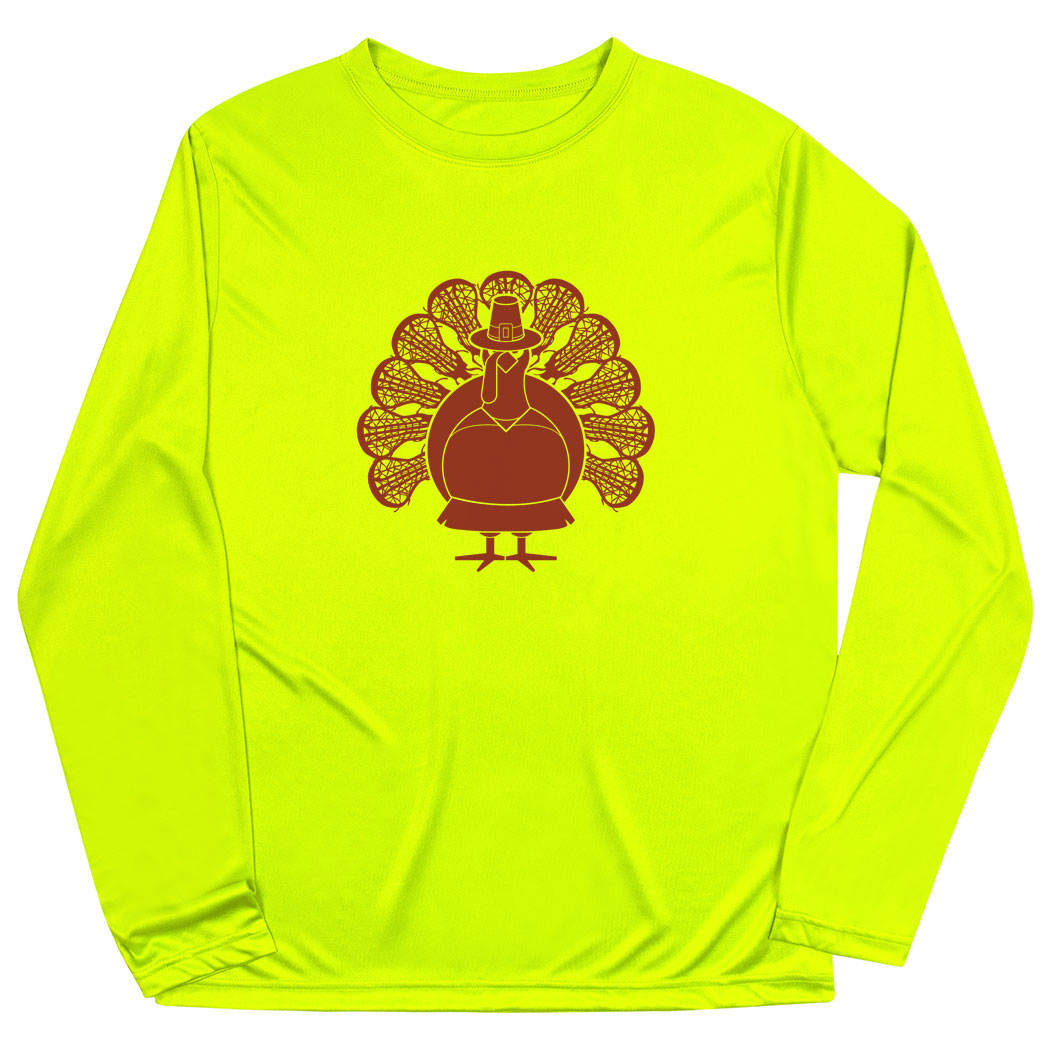 Girls Lacrosse Long Sleeve Performance Tee - Turkey Player