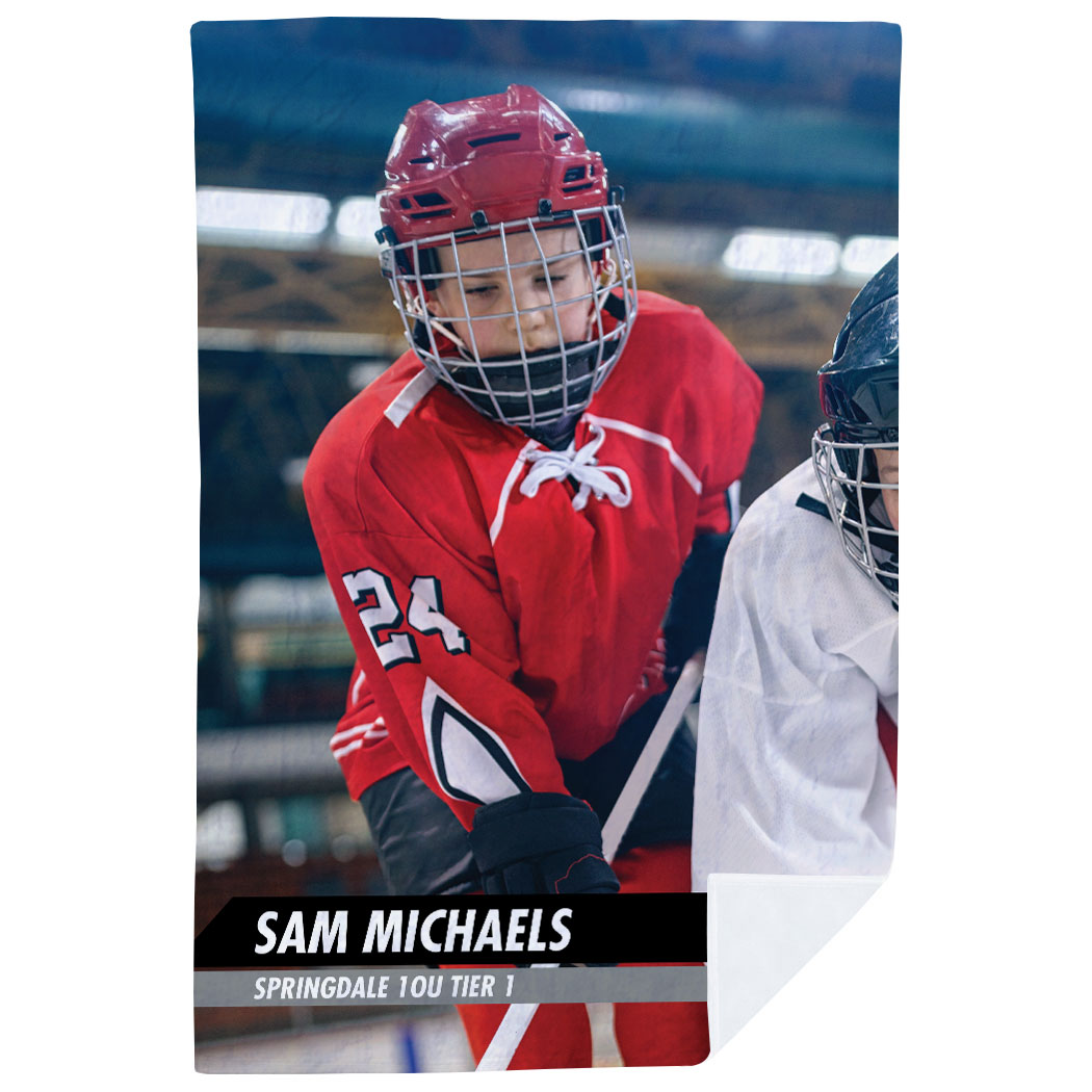 Custom Name And Number Blankets The Wall Hockey Goalie Fleece Blanket