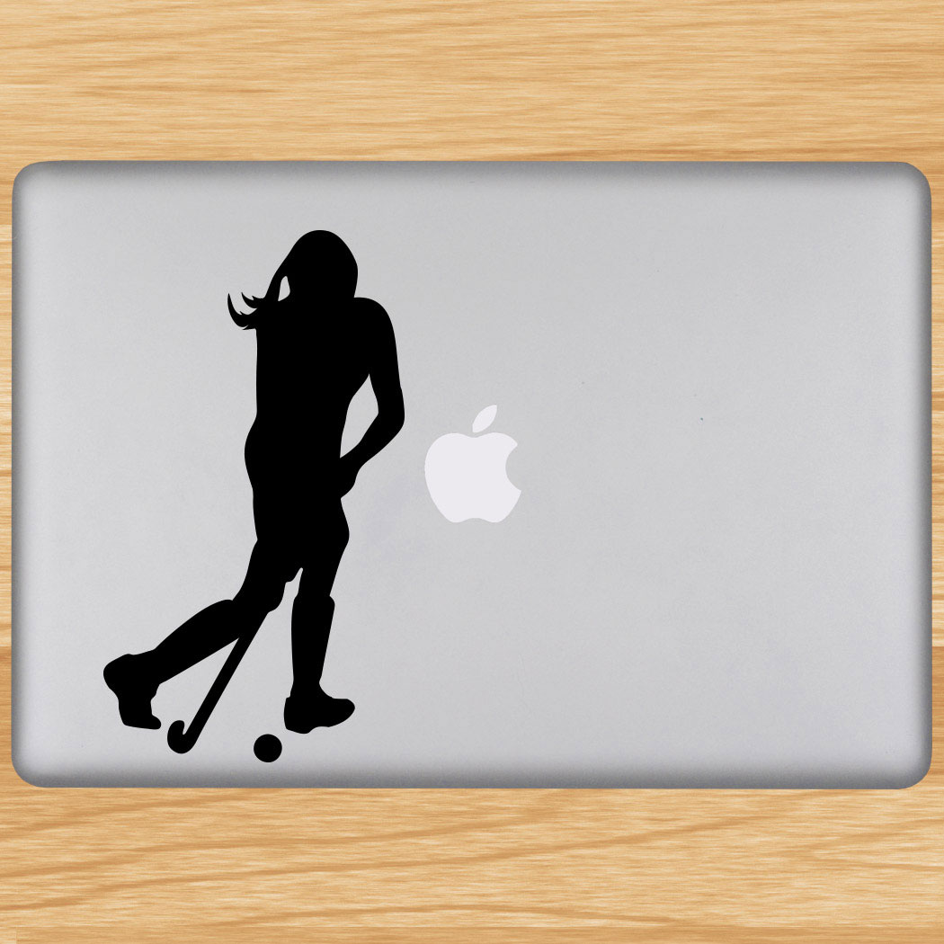 Field Hockey Player Removable ChalkTalkGraphix Laptop Decal Click to Enlarge