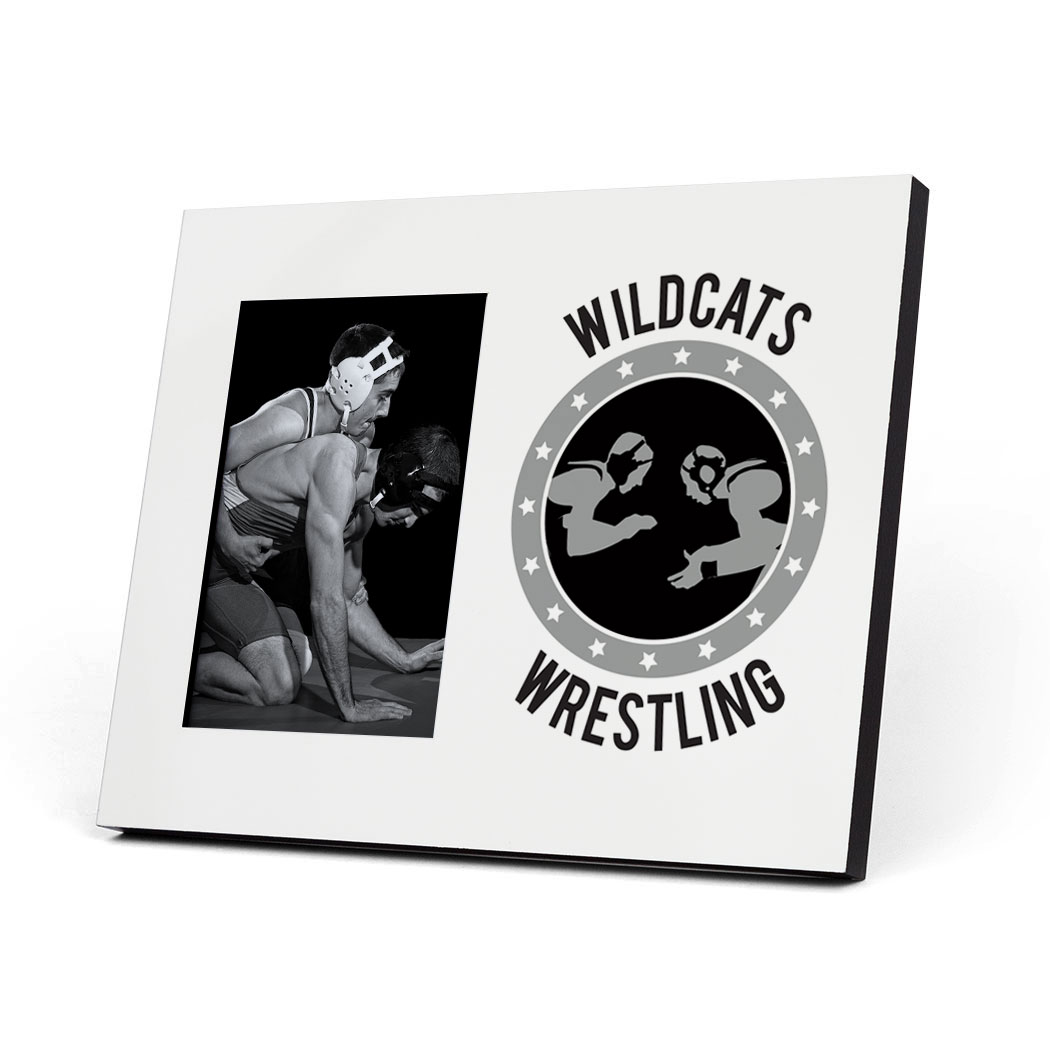 Wrestling Photo Frame - Personalized Wrestling Crest