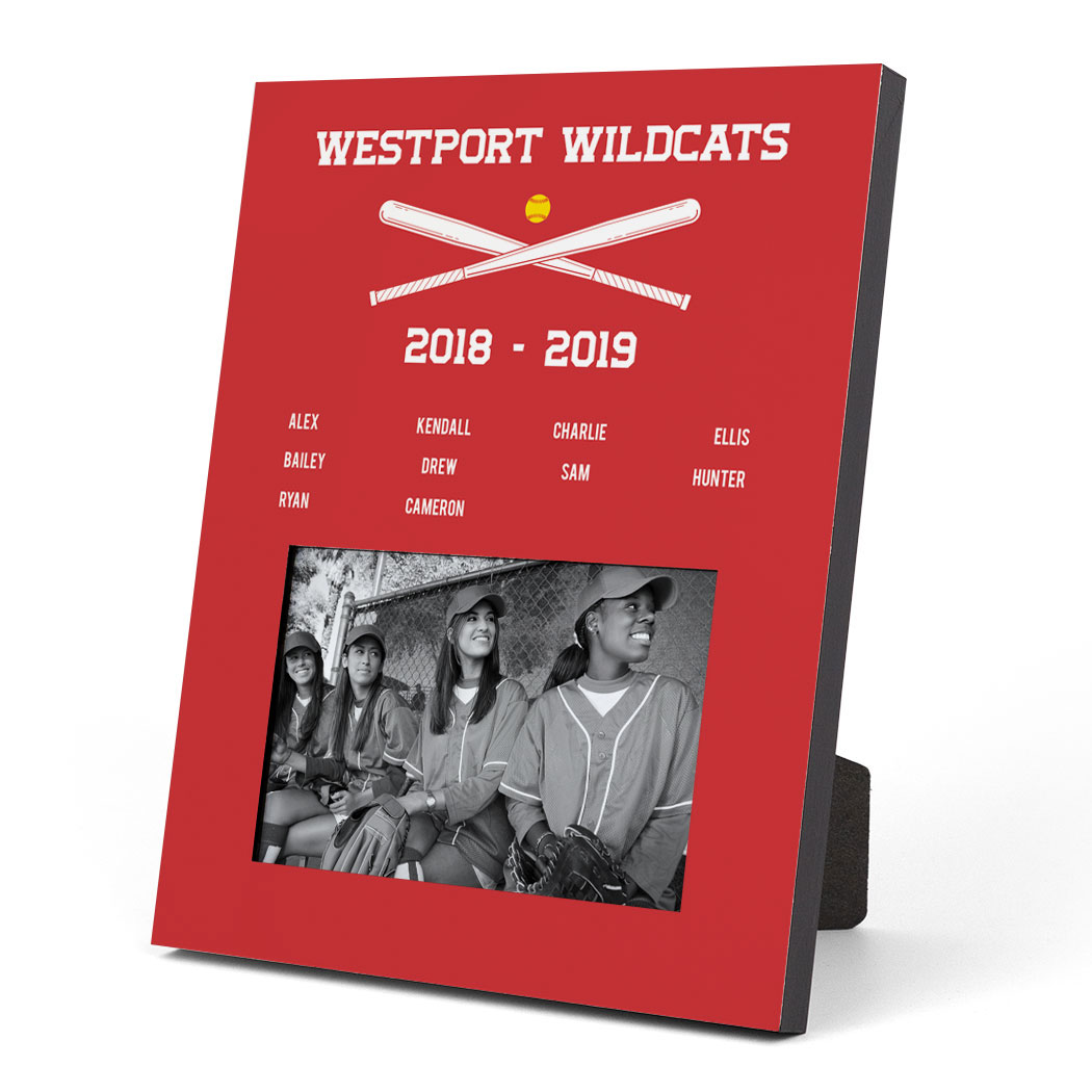 Softball Photo Frame - Team Roster