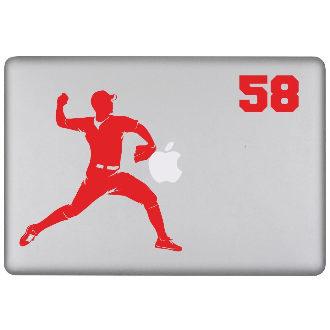 Baseball Personalized Pitcher Removable ChalkTalkSPORTSGraphix Laptop Decal