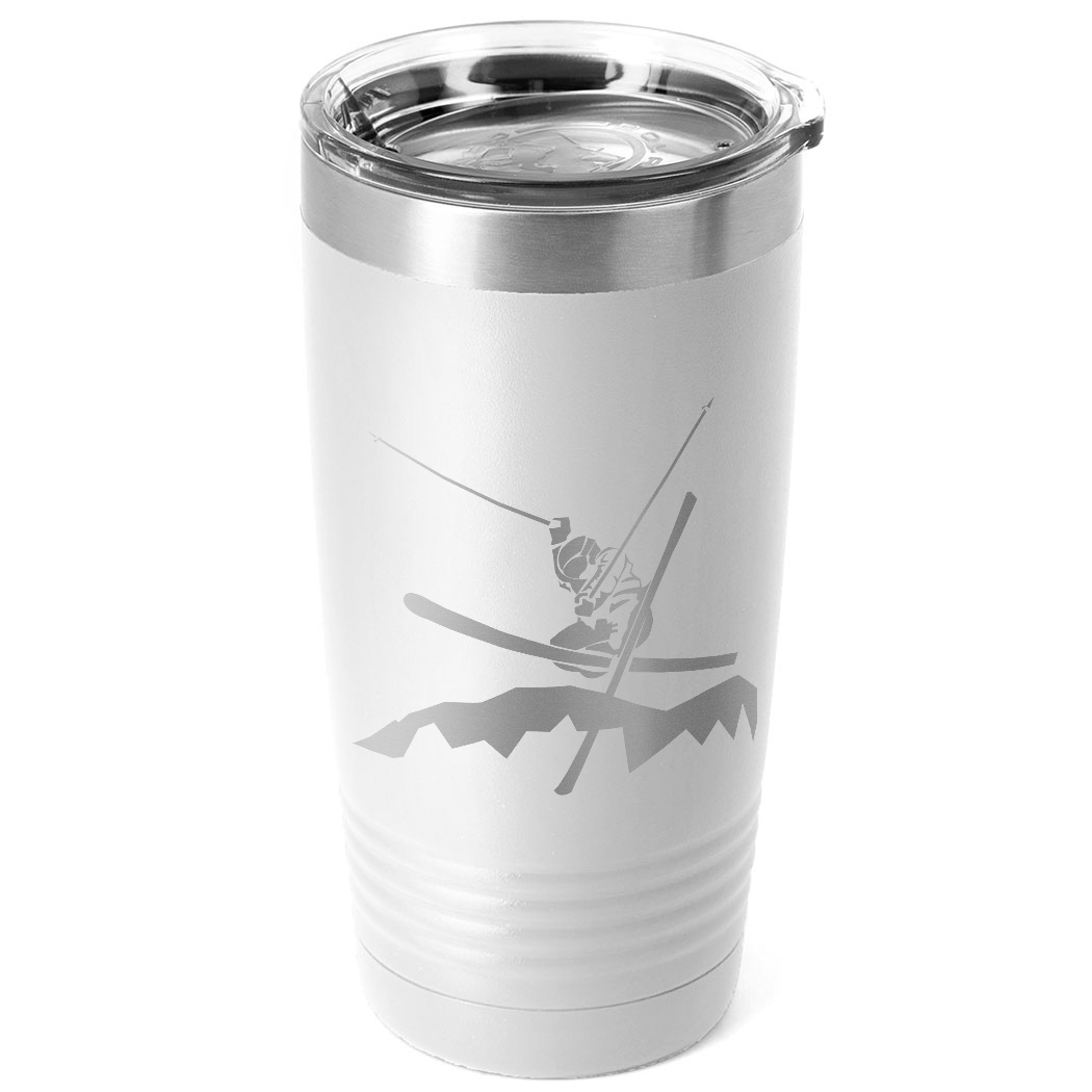 Skiing 20 oz. Double Insulated Tumbler - Male Silhouette
