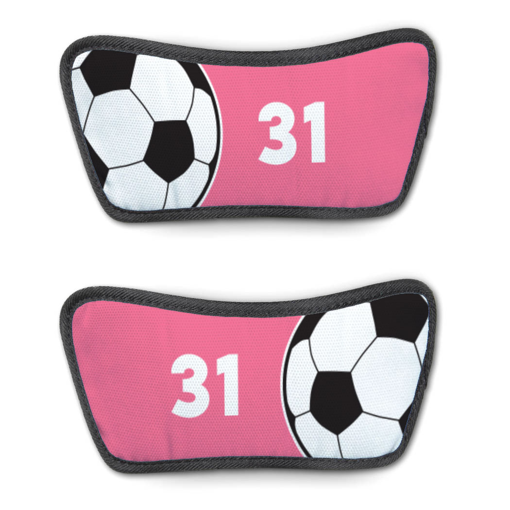 Soccer Repwell® Sandal Straps - Ball and Number Reflected