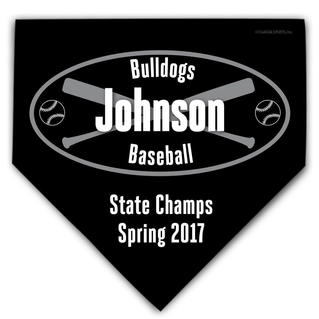 Baseball Personalized Custom Team Home Plate Plaque