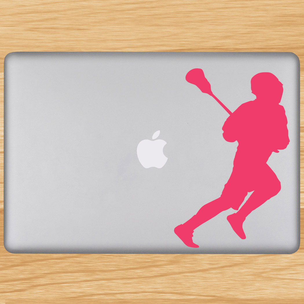 Removable Laptop Decal Running Laxer Silhouette Click to Enlarge
