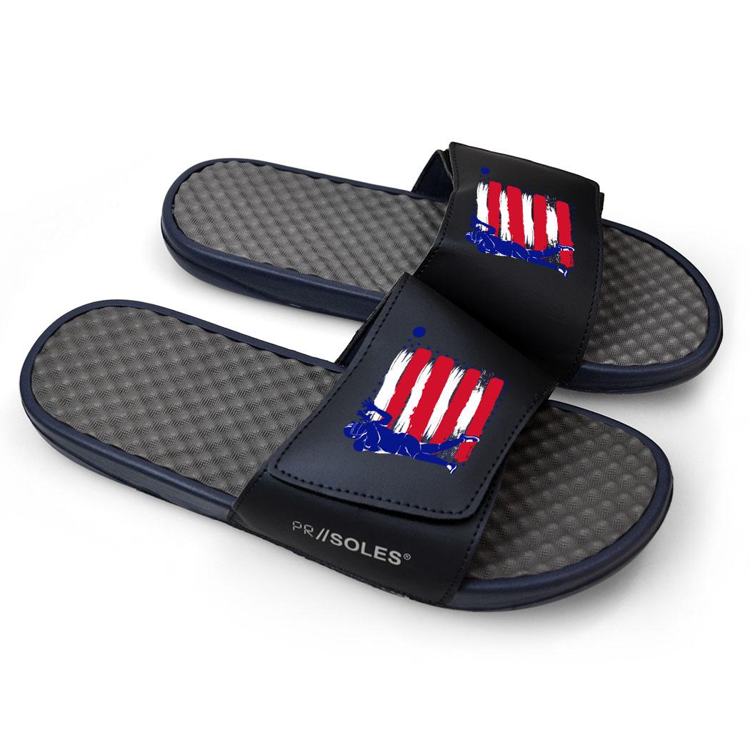 ... Football Navy Slide Sandals - USA Football ...