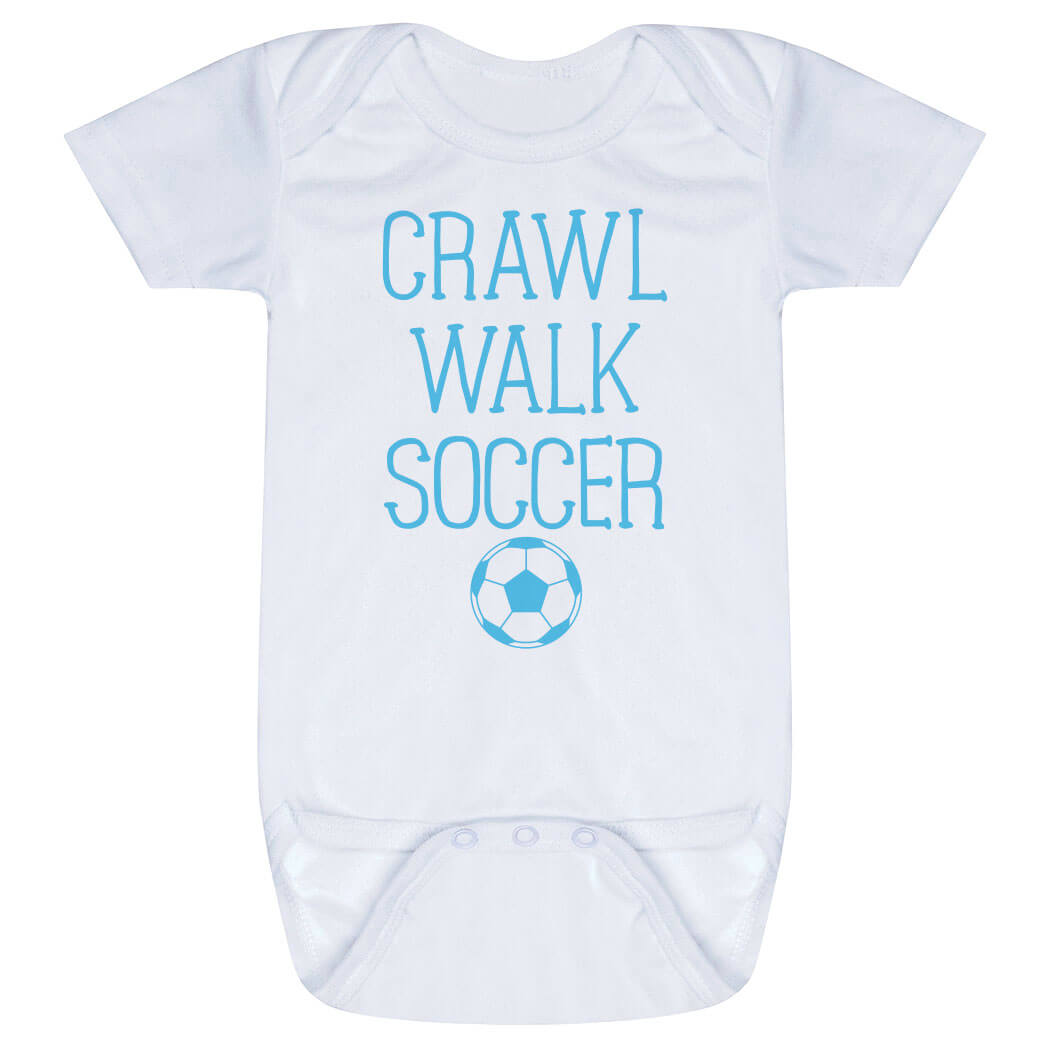 Soccer Baby One-Piece - Crawl Walk Soccer
