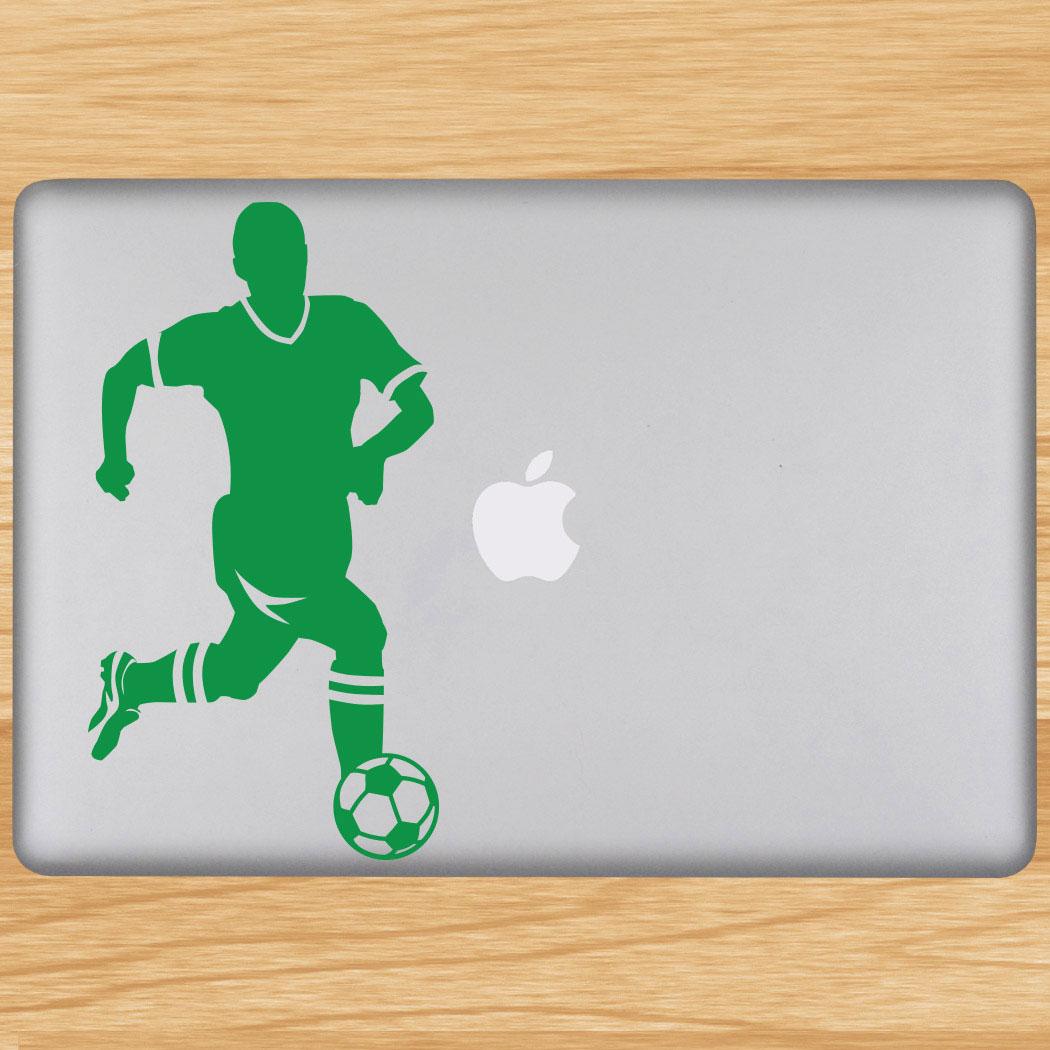 Soccer Guy Player Removable ChalkTalkGraphix Laptop Decal Click to Enlarge