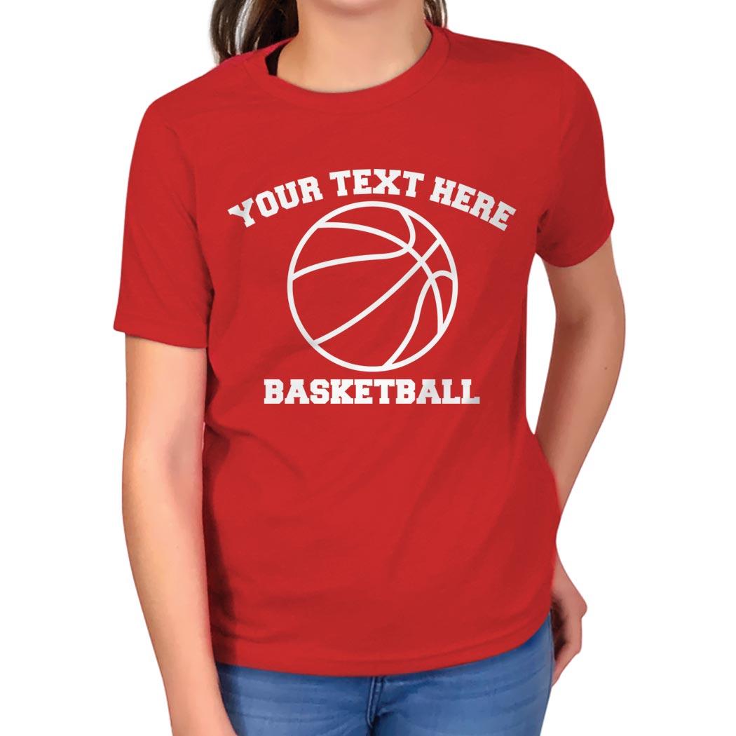 custom basketball t shirt short sleeve basketball t