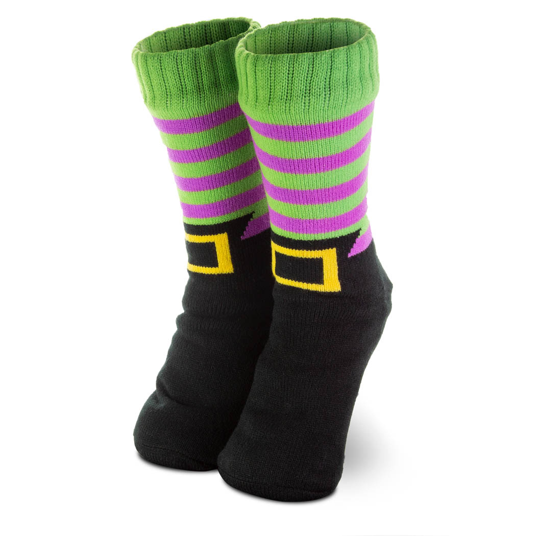 Witch Slipper Socks with Sherpa Lining