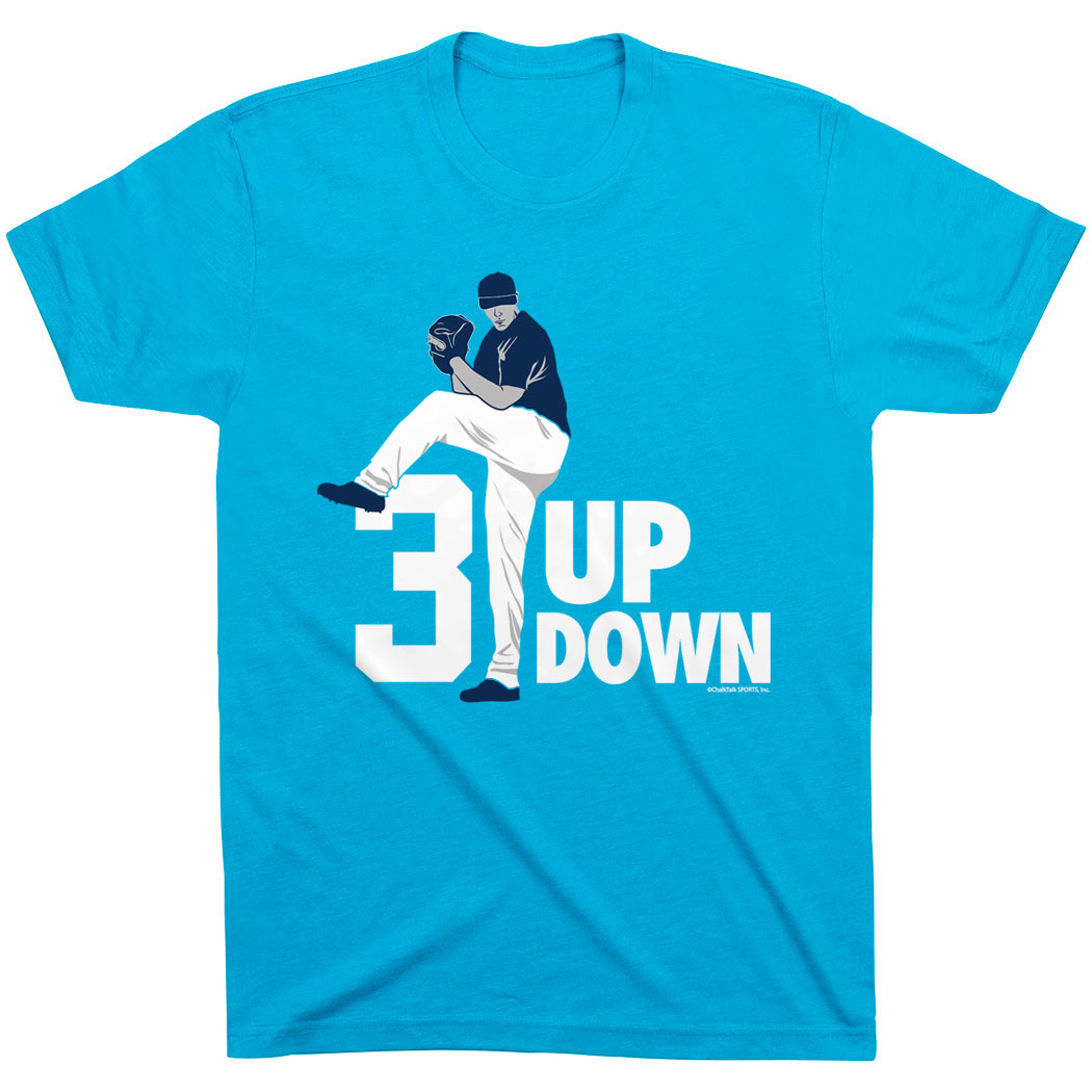 Baseball Tshirt Short Sleeve 3 Up 3 Down