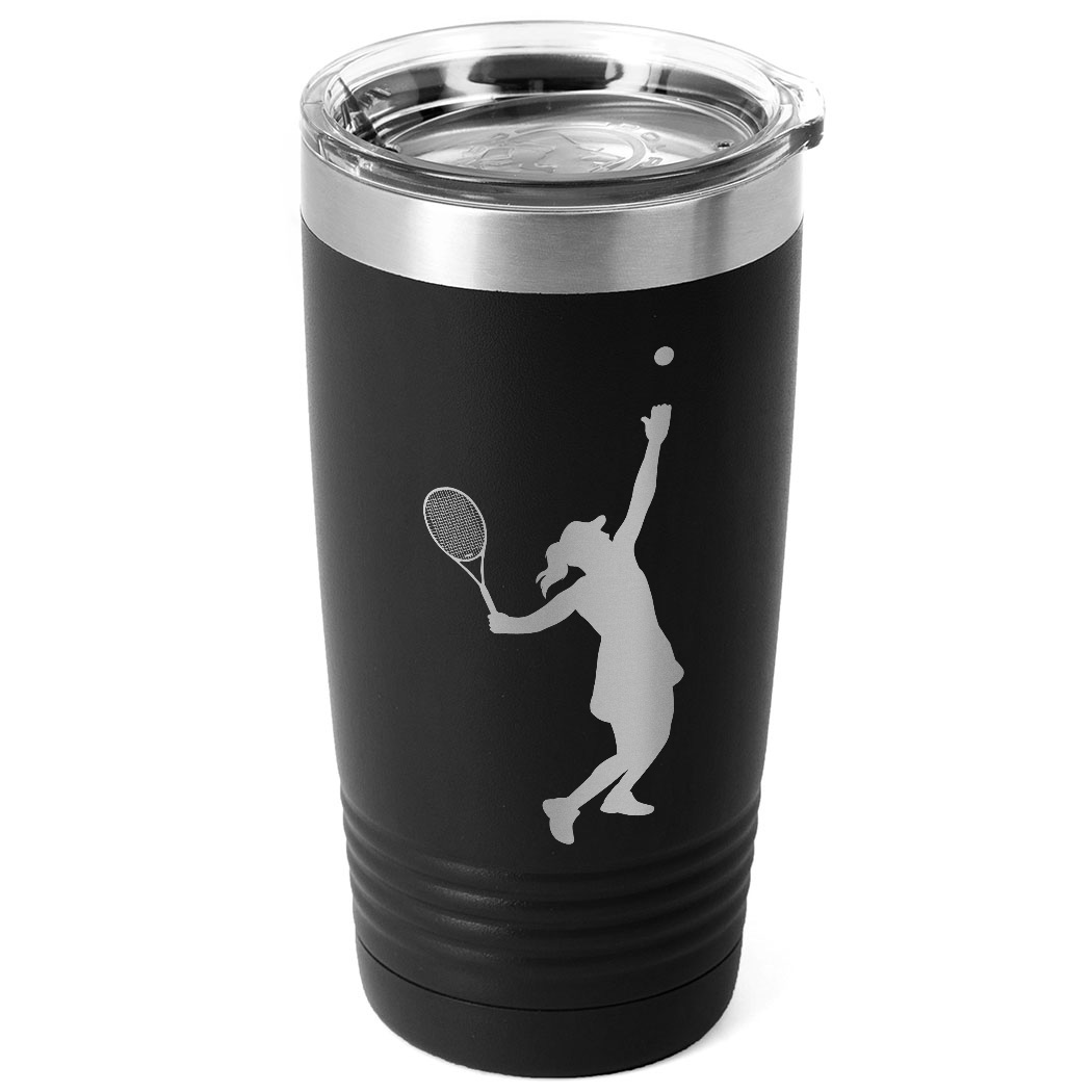 Tennis 20 oz. Double Insulated Tumbler - Female Silhouette