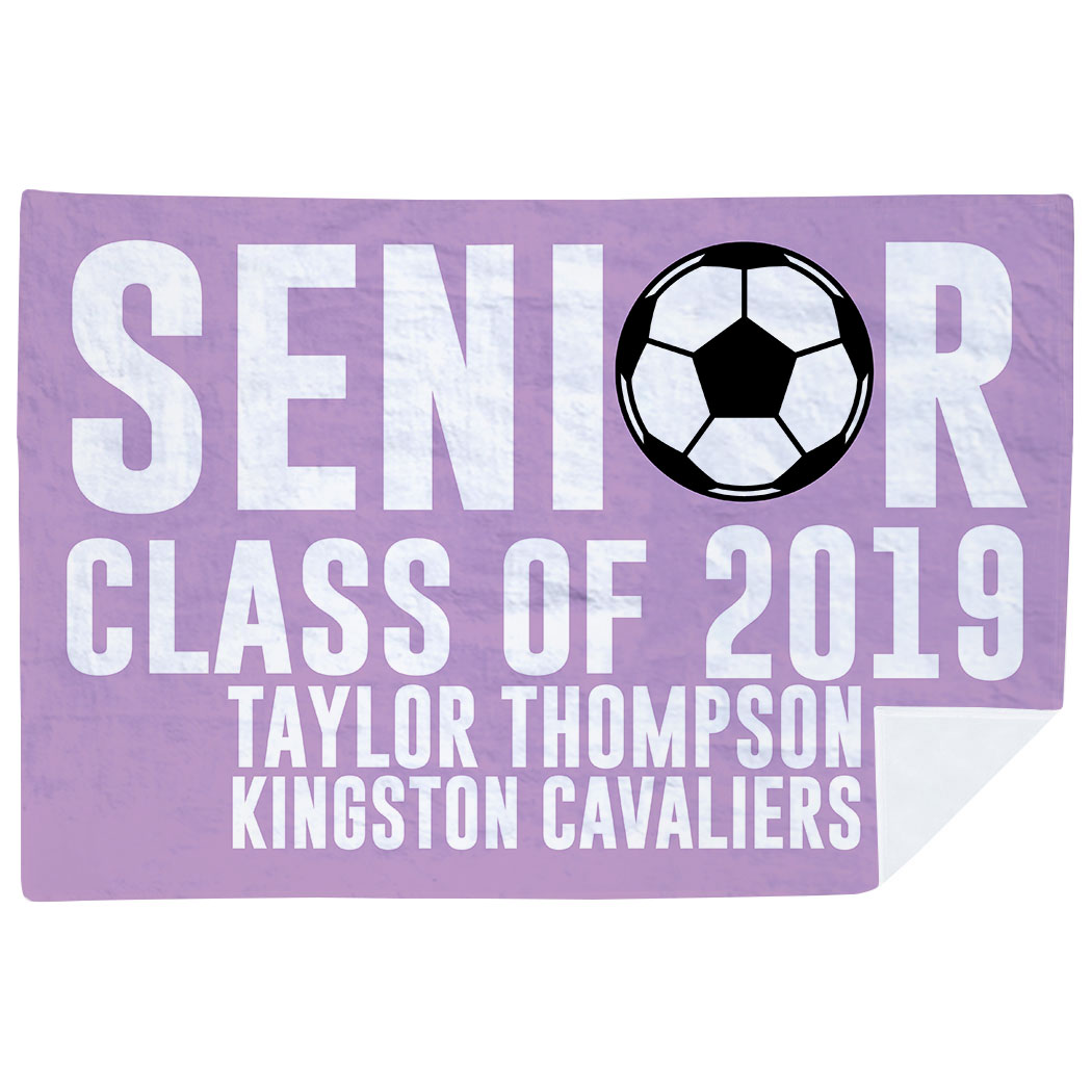 Soccer Premium Blanket - Personalized Soccer Senior Class Of - Personalization Image