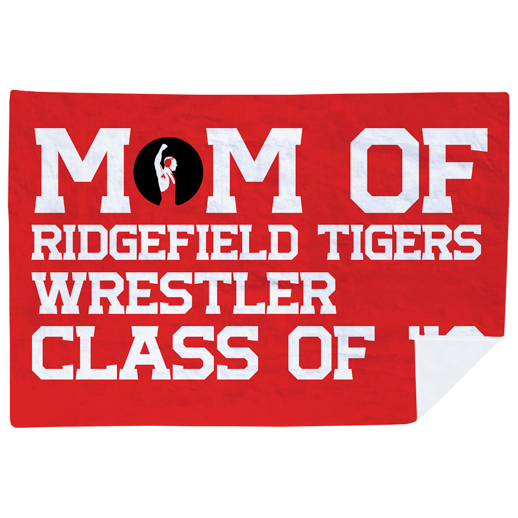 Wrestling Premium Blanket - Personalized Wrestling Mom - Personalization Image