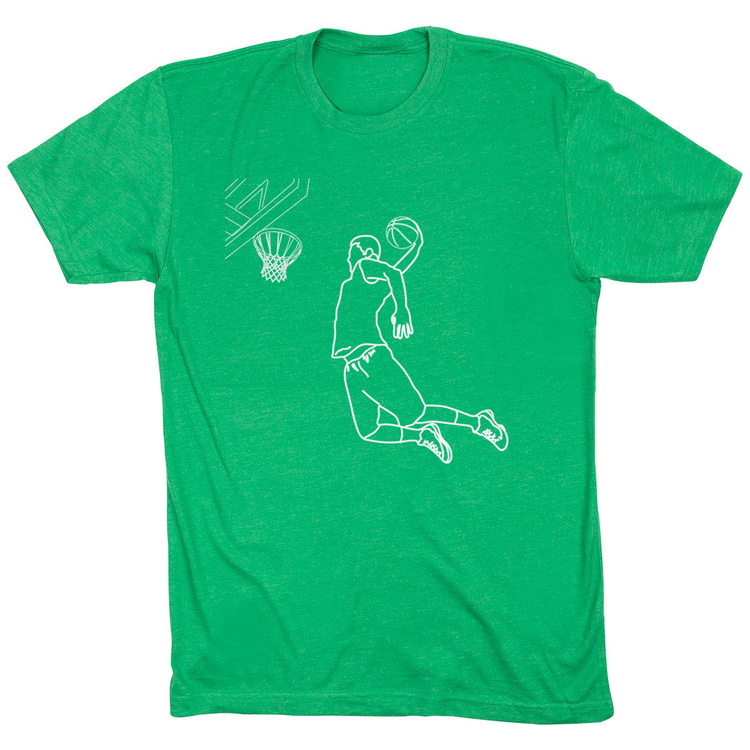 Basketball Short Sleeve T-Shirt - Basketball Player Sketch