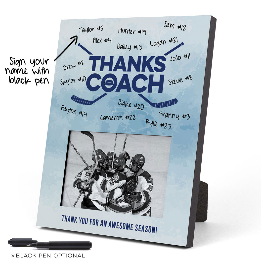 Hockey Photo Frame - Coach (Autograph) - Personalization Image