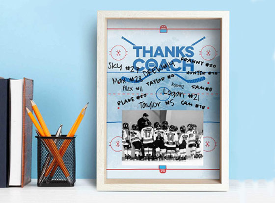 Autograph your name on the this premier coaches frame