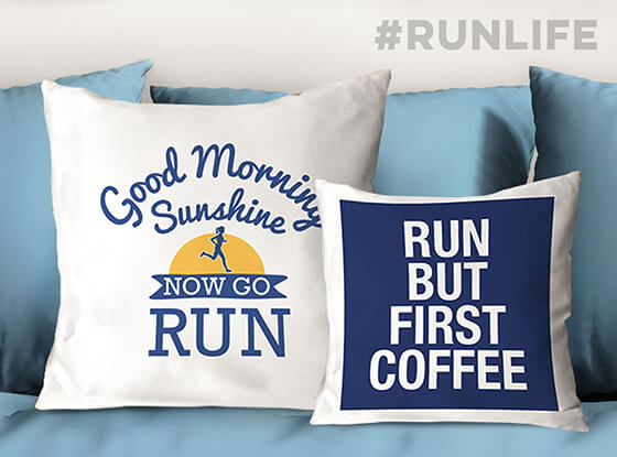 Running Throw Pillows