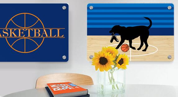Basketball Metal Wall Art