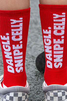 Shop Dangle Snipe Celly Woven Mid Calf Socks