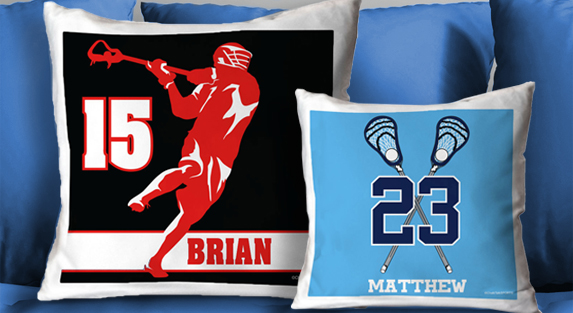 Guys Lacrosse Throw Pillows