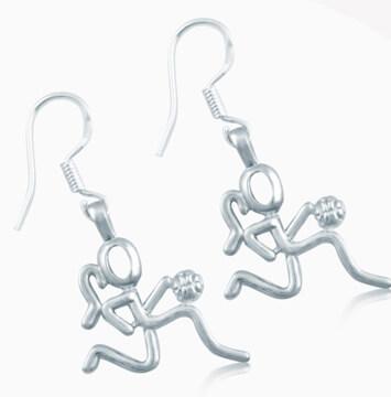 Basketball Earrings & Pins