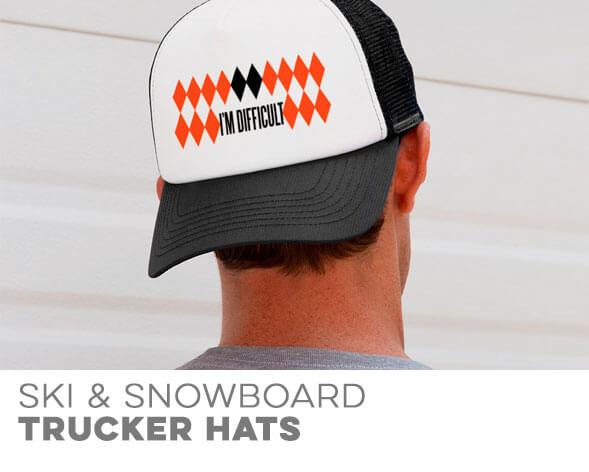 Ski & Snowboarding Trucker Hats