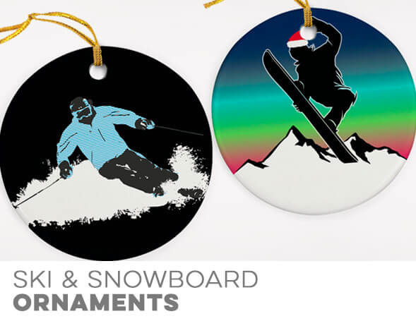 Skiing & Snowboarding Christmas Ornaments