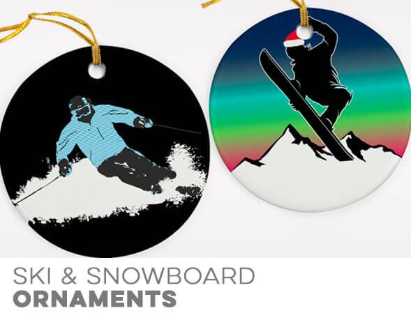 Skiing & Snowboarding Christmas Ornaments