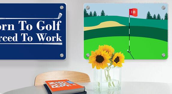 Golf Metal Wall Art
